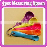 5pcs/Lot Measuring Spoons Size 15ml,7.5ml,5ml,2.5ml,1ml A Must Baking Tools