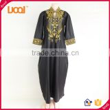 OEM maxi plus size dress for women african bazin embroidery tradition design dress                                                                         Quality Choice