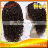 "Fashion Black Women 12"" #2 Free Shipping Human Hair Wig Brazilian Virgin Human Hair Full Lace Wig & Front Lace Wig IN STOCK"