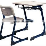Hot Sale Plywood with Laminate Board and Injection Mould Edge Student Desk and Chair Set for School Furniture