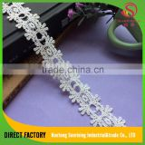 [NTSUNRING] factory supply best quality 2 CM polyester mesh lace motif for wedding dress,underwear