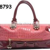 2012 Newest Summer & Spring lady Name Brand PU handbags in Red colour