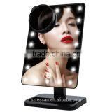 Magnifying Makeup Mirror,10X Magnification mirror lighted LED Make up mirror 180 Degree Free Rotation