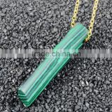 Popular Turquoise Stone stick gemstone pendant necklace Natural Stone Necklaces For Women