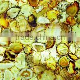 Top grade semi-precious stone used for Kitchen Top, Lab Top, Vanity Top, Desk, Window Sill, Counter Top and also wall cladding.