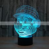 Newest 3D LED Night Light Colorful Gradient Atmosphere Lamp Novelty Lighting Lamp bulk promotional gift for kids