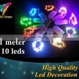 Button Cell Battery Powered 10 LED Copper Wire Mini Fairy String Lights For Holiday Christmas Wedding Party 9 Colors