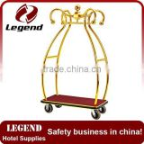 Economy Golden Flower Luxury Baggage Trolley