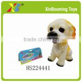 "7"" toys soft plastic dog with BB whistle"
