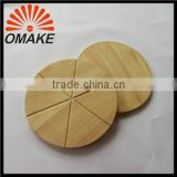 2016 Brighter Price Solid Wood Pizza Rubber Wooden Cutting Tool, Pizza Board, Wooden Cutting Stone