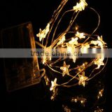 chritmas artificial star with led battery operated remote contron light led string light