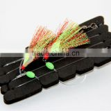 fishing rig flasher sabiki hook lumo wing glow bead 2hooks flasher Assassin