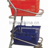 supermarket shopping trolley for hand basket