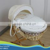 hand made cradle baby moses basket / moses basket set /maize basket/ bassinet,/ corn basket /with rocking stand BB021