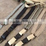 Outdoor Sports Hunting Gun Accessories Survival Wholesale Handmade Paracord Rifle Slings With Black Clasp