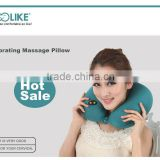 2015 new design u-shape neck electric Massage memory foam pillow for travel/car/airplane/office/home use