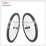 Only 1220g/set lighweight 30mm tubular road bicycle wheelsets high temp durable brake track 20H/24H custom logo available