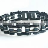 Fashion bracelet stainless steel cool black color Bicycle biker motorcycle chain link bracelet for men