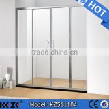 standard bright aluminum alloy shower enclosure