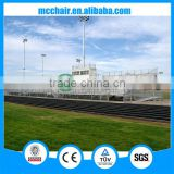 MC-PLR01 aluminum frame outdoor bleacher outdoor permanent bench aluminum stand
