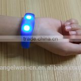 Sound control LED flashlight silicone bracelet with LED lights event and party supplies
