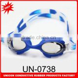 2014 Newest anti-fog swim goggles for kids with lovely cartoon design and adjustable silicone strap