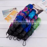 3 Sections Manual Open Foldable Compact Umbrella for Women                                                                         Quality Choice