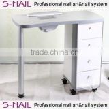 HOT nail table salon use dust collecter, nail salon manicure table