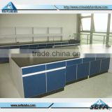 Used Hospital Laboratory Furniture Electrical Wooden Work Bench Chemical Lab Workstation with Socket