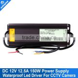 12V 12.5A LED Driver or CCTV Power Supply Adapter Box Transformer WaterProof Isolated