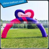 inflatable heart arch for wedding / customized inflatable arch balloon for special events
