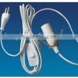 E27 cable plug with switch 2 meter length
