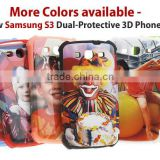 Phone Case for Samsung S3 ; 3D Blank Phone Case; 3D Case for Samsung S3 ; Card insert Phone case for Samsung S3