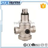 "ART.5065 Threaded ISO228/1 1/2"" 3/4"" 1"" sand blast and nickel plated forged brass water pressure reducing limited relief valve"