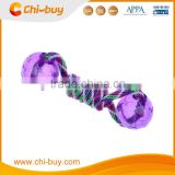 "Chi-buy Best Cotton Rope Dog Toy With Two 3.5""TPR Purple Balls Durable Dog Toys Free Shipping on order 49usd"