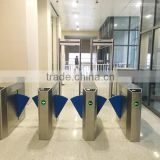 Building Wider Opening Pedestrian Access Control Gate Flap Turnstile Gate with Safety Infreared Sensors