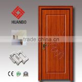 2015 Luxury single high quality wood mdf pvc single interior pure color wooden door with locks