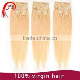 Factory Price!!!100% Unprocessed No Tangle No shedding clip in hair extensions for black people