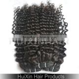 7a grade unprocessed natural color remy hair weaves ,virgin Bohemian kinky curly hair