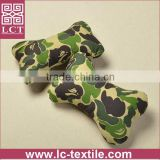 wholesale 100% breathable cotton canvas fabric car headrest pillow with camouflage design(LCTP0047)