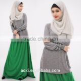 OEM service China factory custom made arabic women two piece muslim dress