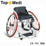 Topmedi Aluminum manual folded lightweight leisure basketball sport wheelchair prices(lightweight basketball wheelchair supplie)