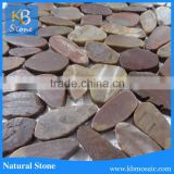 100% Man made Red Pebbles Stone for Garden Walkway