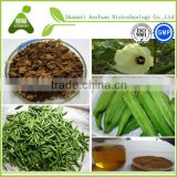 Free Samples Kosher Halal Factory Supply Good Water Soluble Okra Extract Powder/Okra P.E./Abelmoschus esculentus Extract