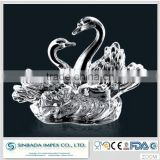 With 10 years experience factory supply crystal glass swan wedding souvenir decoration gift