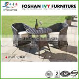 Outdoor rattan modern coffee chair and round table