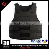Concealed NIJ 3a.44 bulletproof vest with 1000D nylon fabric for officer and VIP aramid core lightweigh pe core
