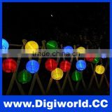 Solar Powered 4.8M 20pcs Ball String Lights For Holiday Wedding