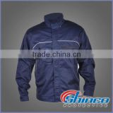 Royal Blue EN11611 /11612 Oil industry using fire retardant & oil water repellent winter reflective tape jacket 450gsm