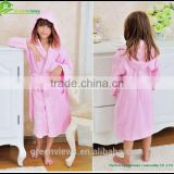 Girl's bathrobe hooded Velour, OEM Products Supplier 70%viscose30%Cotton, Unisex Multicolor Item No.GVKBR1003
